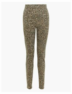 M&S Collection Animal Print High Waisted Jeggings
