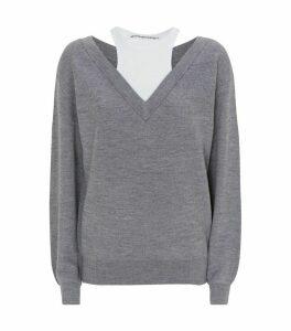 Layered Knit Sweater