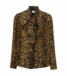 Leopard Pussybow Blouse