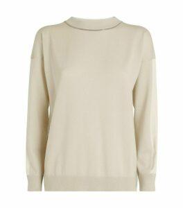 Beaded Round-Neck Sweater