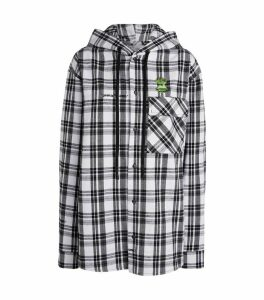 Flannel Check Hoodie