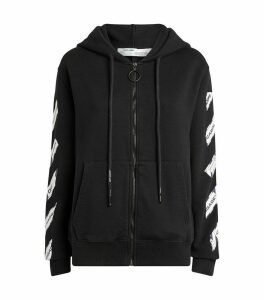 Airport Tape Zip-Up Hoodie