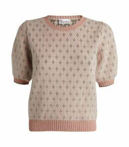 Angora-Blend Jacquard Sweater