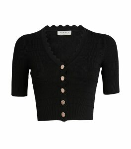 Scalloped Knitted Cardigan