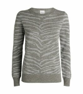 Juno Zebra Wool-Cashmere Sweater