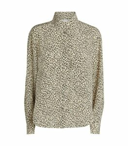 Leopard Print Long-Sleeved Shirt
