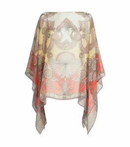 Silk Chiffon Poncho Top