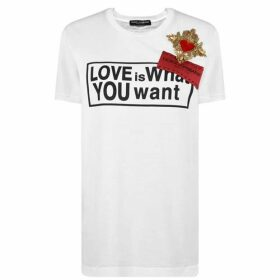 Dolce and Gabbana Love Short Sleeved T Shirt