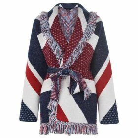 Alanui Union Jack Oversized Cardigan