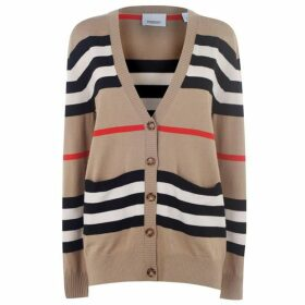 Burberry Icon Stripe Merino Wool Cardigan