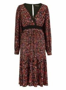 Womens Little Mistress Multi Colour Floral Print Midi Dress, Multi Colour