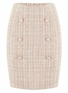 Womens **Paper Doll Blush Pearl Skirt- Pink, Pink