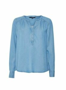 Womens **Vero Moda Blue Denim Shirt, Blue