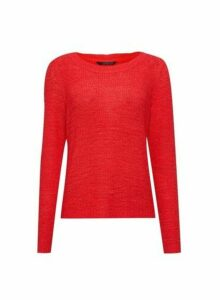 Womens **Only Red Knitted Jumper, Red