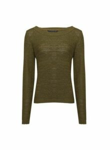 Womens **Only Khaki Knitted Jumper, Khaki