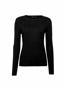 Womens Only Black Knitted Top, Black