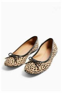 Womens Astrid Leopard Print Ballet Shoes - True Leopard, True Leopard