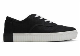 TOMS Black Heritage Canvas Women's Cordones Indio Sneakers Venice Collection Shoes - Size UK9