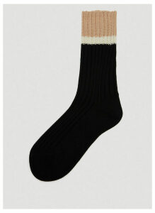 Prada Intarsia Knit Socks in Black size 3