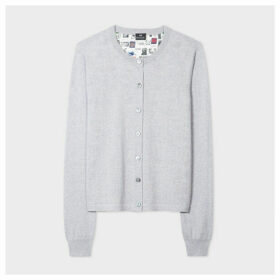 Women's Grey 'Up' Back Panel Wool And Silk Cardigan