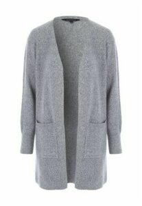 Womens Grey Chunky Cardigan