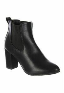 Womens Black Heeled Chelsea Boots