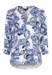 Womens Blue Paisley Shirt