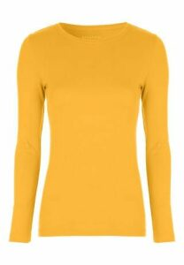 Womens Mustard Long Sleeve Top