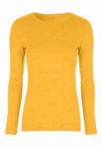 Womens Mustard Long Sleeve Top
