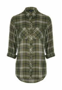 Womens Khaki Check Shirt