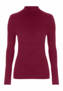 Womens Grape Roll Neck Jumper