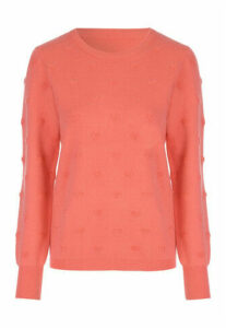 Womens Coral Heart Jumper