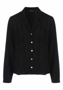 Womens Black Long Sleeve Shirt