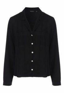 Womens Black Long Sleeve Shirt