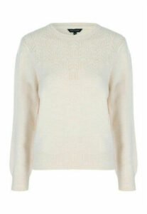 Womens Stone Pointelle Jumper