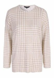 Womens Oatmeal Check Cosy Top