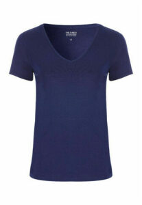 Womens Navy V-Neck T-Shirt