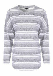 Womens Grey Stripe Cosy Top