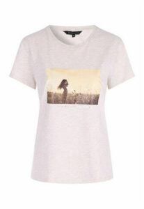 Womens Oatmeal Graphic T-Shirt