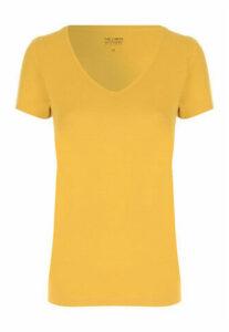 Womens Mustard V-Neck T-Shirt