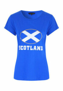 Womens Blue Scotland T-Shirt