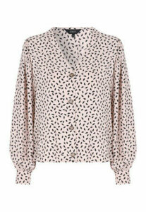 Womens ENVY Cream Print Blouse