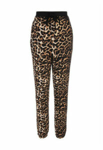 Womens Brown Leopard Soft Touch Pyjama Trousers
