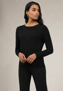 Womens Crew Neck Black Jumper