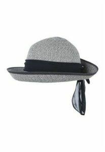 Womens Navy Blue Cloche Tie Back Sun Hat