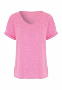 Womens Neon Pink Snow Yarn Pyjama Top