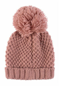 Womens Pink Pom Hat