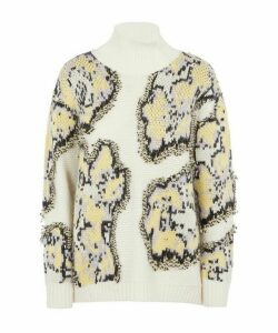 Abstract Daisy Sweater