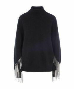 Multi Chain Turtleneck Sweater