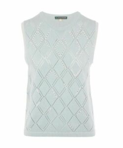 Embroidered Knitted Tank Top